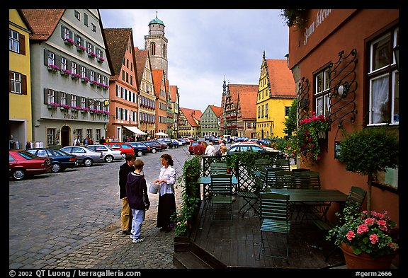 Main plaza,  Dinkelsbuhl. Bavaria, Germany (color)