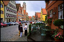 Main plaza,  Dinkelsbuhl. Bavaria, Germany ( color)