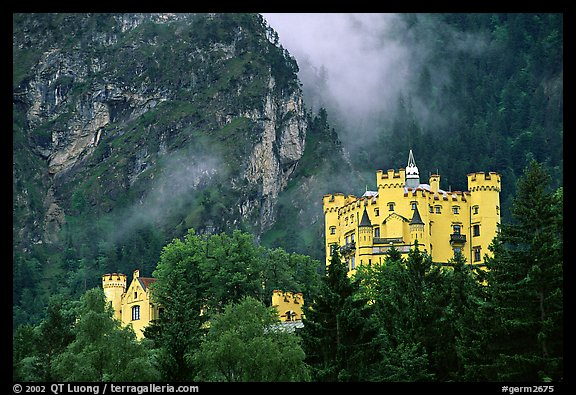 Hohenschwangau, built in 1832 for Maximillien II, King Ludwig's father. Bavaria, Germany