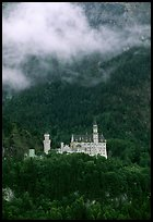 Neuschwanstein, one of the castles built for King Ludwig. Bavaria, Germany (color)
