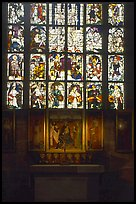 Painting and stained glass. Nurnberg, Bavaria, Germany ( color)