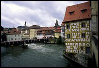 Houses and canal, Bamberg. Bavaria, Germany ( color)