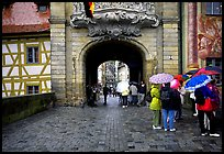 Rainy afternoon, Bamberg. Bavaria, Germany ( color)