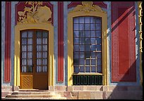 Gate and window, royal residence of Drottningholm. Sweden ( color)