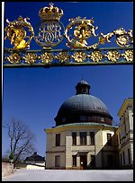 Entrance gate, royal residence of Drottningholm. Sweden
