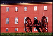 Cannon in front of Uppsala castle. Uppland, Sweden ( color)