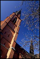 Cathedral in French gothic style, Uppsala. Uppland, Sweden (color)