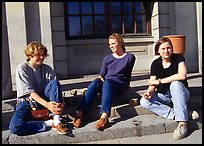 Students at the university of Uppsala. Uppland, Sweden ( color)
