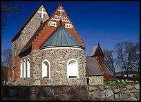 12th century Church of Gamla Uppsala. Uppland, Sweden ( color)