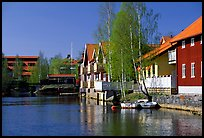 Riverside houses in Fallun. Central Sweden