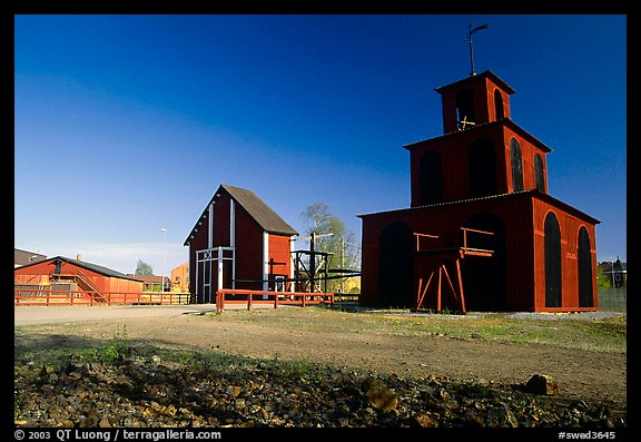 Mining buildings in Falun. Central Sweden (color)