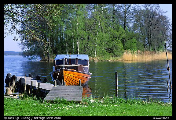 Boat on lakeshore. Central Sweden (color)