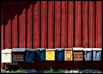Row of mailboxes. Gotaland, Sweden (color)