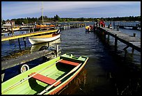 Boats and pier. Gotaland, Sweden ( color)