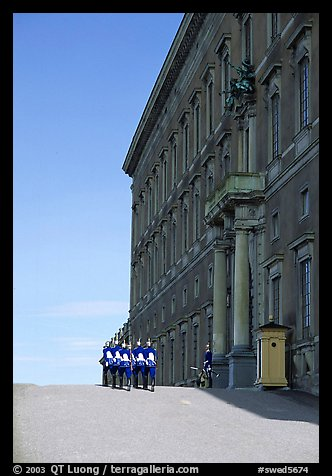 Royal Palace and Royal Guard. Stockholm, Sweden