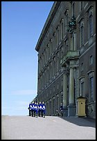 Royal Palace and Royal Guard. Stockholm, Sweden (color)