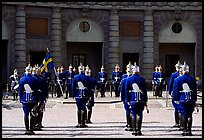 Royal Guard in front of the Royal Palace. Stockholm, Sweden ( color)