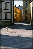 Streets of Gamla Stan, the island where the city began. Stockholm, Sweden (color)