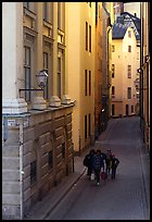Narrow street of Gamla Stan. Stockholm, Sweden (color)