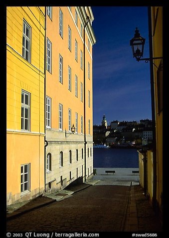 Looking out to the Malaren from Gamla Stan. Stockholm, Sweden (color)