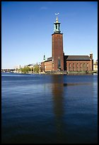 Stadshuset, used for Nobel receptions. Stockholm, Sweden (color)