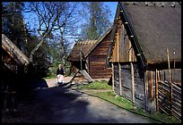 Rural houses, Skansen. Stockholm, Sweden ( color)