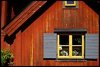 Detail of a red house. Stockholm, Sweden ( color)