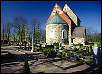 12th century Church of Gamla Uppsala. Uppland, Sweden (color)