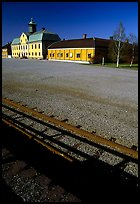 Railroad in Falun, a copper mining area, which was in the 17th century the world's most important mining area.. Central Sweden ( color)