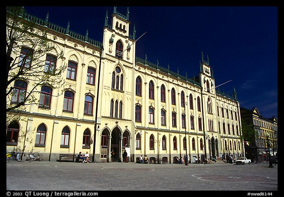 City hall, Orebro. Central Sweden (color)