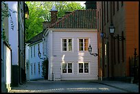 Streets in old town, Vadstena. Gotaland, Sweden (color)