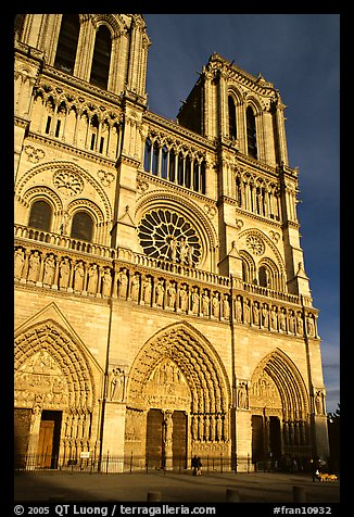 Notre Dame Cathedral, late afternoon. Paris, France (color)
