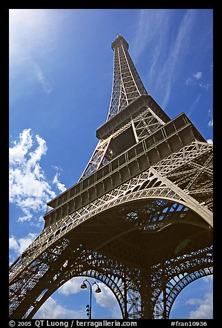 Eiffel tower seen from the base. Paris, France