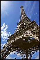 Eiffel tower seen from the base. Paris, France (color)