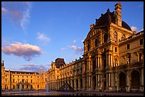 Denon Wing of the Louvre at sunset. Paris, France