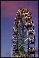 Tuileries Ferris wheel at sunset. Paris, France ( color)