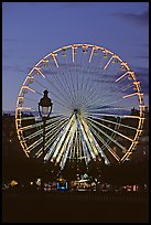 Ferris wheel in the jardin des Tuileries at sunset. Paris, France