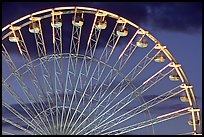Detail of Ferris wheel at dusk, Tuileries. Paris, France