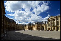 Entrance court of the Versailles Palace. France ( color)