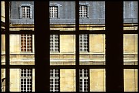 Versailles Palace walls seen from a window. France