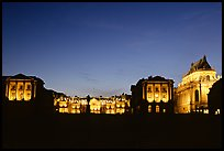Versailles Palace at night. France (color)