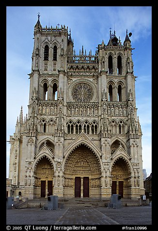Cathedral facade, Amiens. France (color)