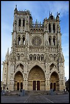 Cathedral facade, Amiens. France ( color)