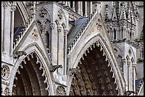 Detail of Cathedral facade, Amiens. France