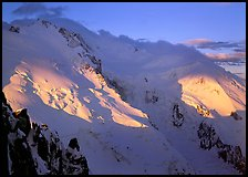 Mont Blanc and Dome du Gouter, early morning light, Chamonix. France ( color)