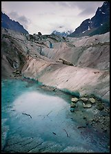 Glacial Pond on Mer de Glace glacier, Chamonix. France ( color)