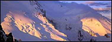 High mountain scenery, North Face of Mont-Blanc. France (Panoramic color)
