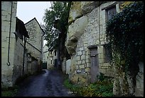 Troglodyte houses. Loire Valley, France