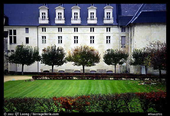 Abbaye de Frontevrault (Abbey of Frontevrault). Loire Valley, France (color)