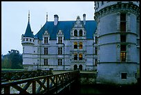 Azay-le-rideau chateau entrance. Loire Valley, France (color)
